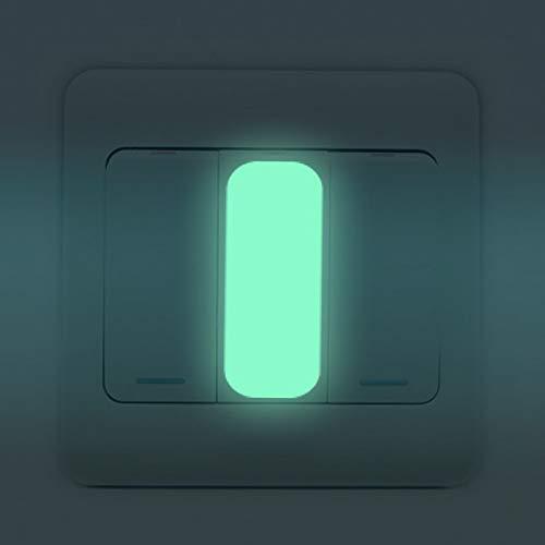 Shuzhen, 10 Unids Rectángulo Interruptor Luminoso Pegatina Resplandor en la Pared Oscura...