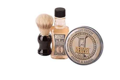Reuzel Rasurset Basic - Shave Cream+After Shave+Rasierpinsel