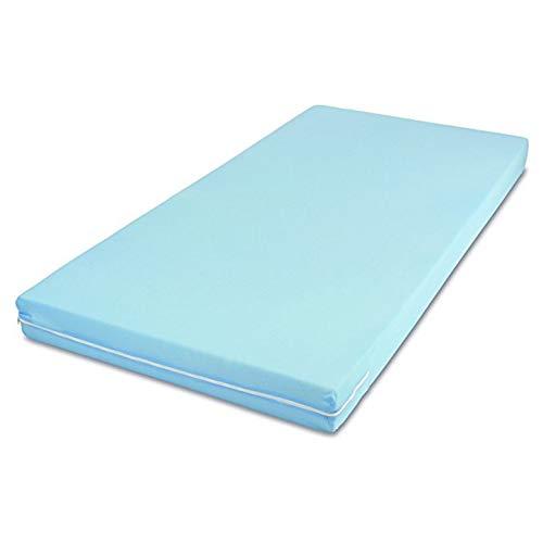 MSS Roll-Matratze, Easy Active, 140 x 200 x 11 cm, H3, Bezug Blau, Schaumstoff