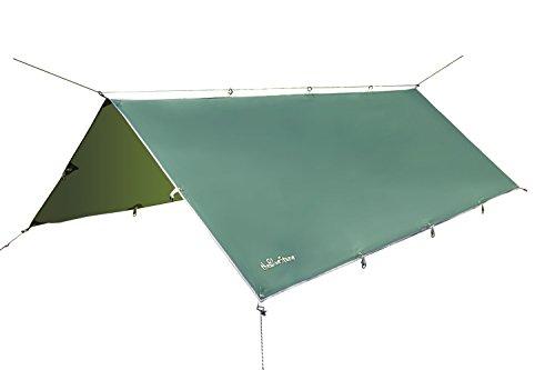 3m x 3.7m - wasserdicht,leicht, kompakt und stark grün Hammock Zeltplanen Plane für Camping
