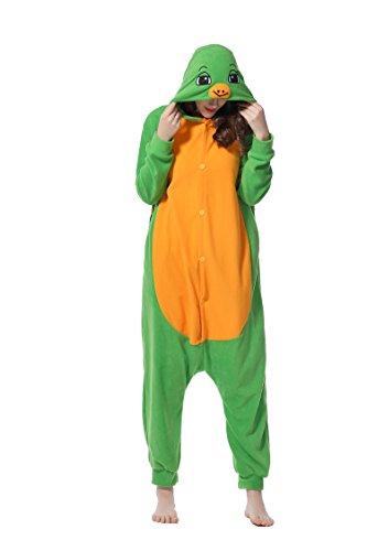 DAN SPEED - Anime Costume Cosplay Combinaison Grenouillères Vêtements de nuit (XL(178-185cm), vert (Lapin Kostüm De Adulte)