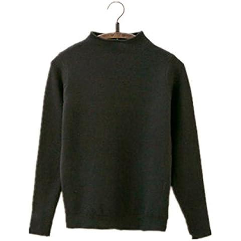 Womens moda autunno inverno maglione girocollo corto Pullover a maniche lunghe , 1 , mean