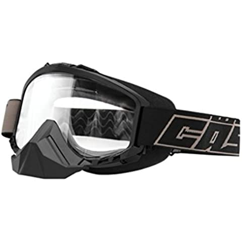 Castle Force Clear Lens Snowmobile Goggles - Black by Castle