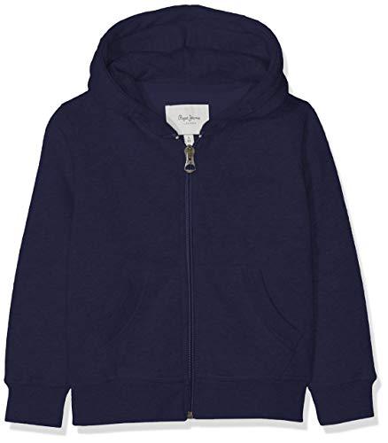 Pepe Jeans Jungen Zip Thru Boys Sweatshirt, Blau (Navy 595), 11-12 Jahre (Herstellergröße: 12) -