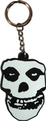MISFITS Skull Schädel 3D Rubber Gummi KEYCHAIN SCHLÜSSEL, Officially Licensed Products Classic Rock Artwork KunstwerkAssorted gemischt- 2