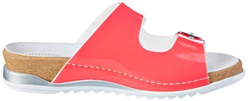 Waldläufer Damen Pantoletten mit Zwei Verschlüssen Pink (Rosa)
