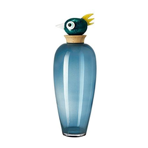 Leonardo Glas Vase Papageno Vogel Luigi, 60 cm
