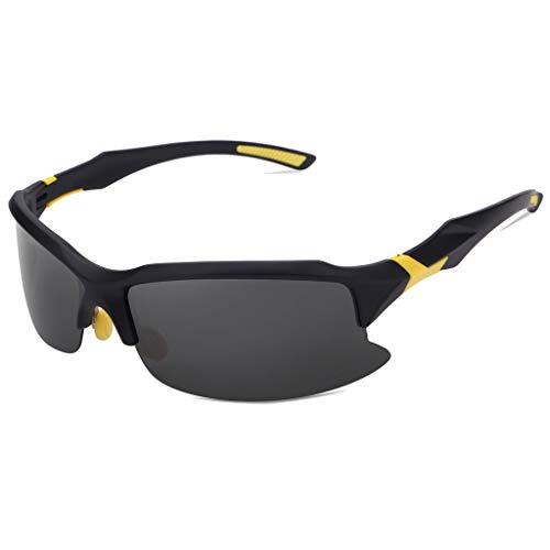 EUCoo Radfahren Brille Polarisierte Sonnenbrillen Outdoor Sports Angeln Brillen Reitbrillen (Gelb)