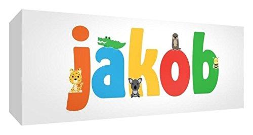 Little Helper de Jakob 515blk - 15de Diamant poli Baby andenken/jeton, personnalisé avec le nom jeunes, Jacob, petit, 5 x 15 x 2 cm