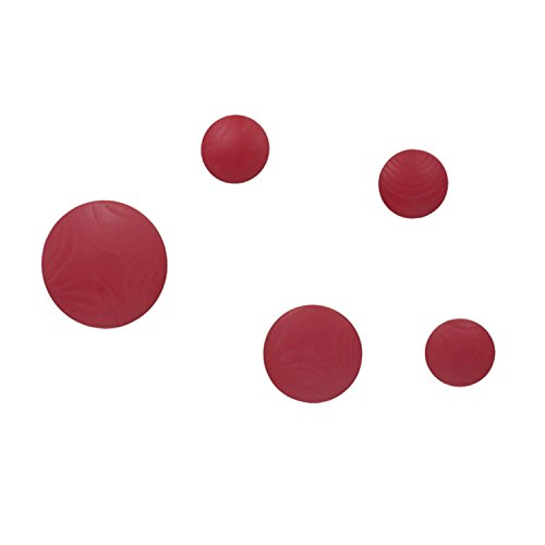 Vaukura Percheros Pared Dots - Percheros Madera Rojo