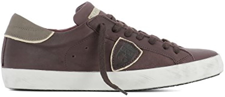 Philippe Model Herren CLLUVT18 Violett Leder Sneakers