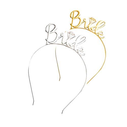 Dorical Haarreifen Bride Bride to be Haarband Haarreif Stirnband Kopfschmuck für JGA Junggesellinnenabschiedparty und Brautparty - Rose Gold Ausverkauf (One Size, Z01-C)