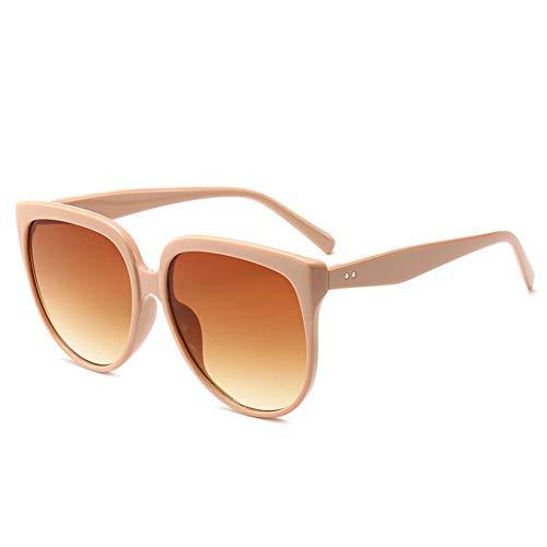 Yuanz Cat Eye Sonnenbrille Frauen Retro Übergroße Sonnenbrille Weibliche Cat Eye Brillen Big Frame Sonnenbrille,W