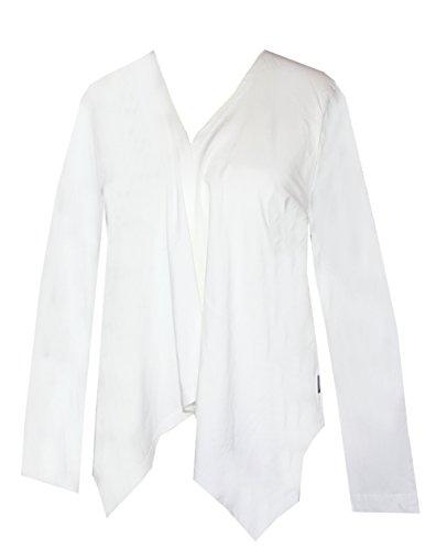 Schneider Sportswear Damen Cardigan Überzieh-Jacke Shirt Weiß