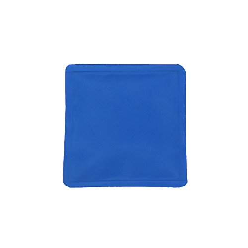Healifty Kühlmatte aus Nylon-Stoff, klein, quadratisch, wiederverwendbar, Gel-Eisbeutel, für Kinder und Erwachsene, 70 ml, Blau -