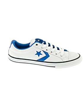 Zapatilla Converse Star Player Leather Blanca/Azul
