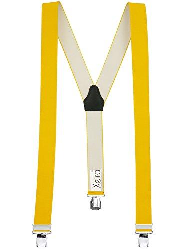 Xeira - Bretelles de Haute qualité pour Femmes/Homme avec 3 Extra Fort Clips dans 15 Couleurs avec XL Clip - Extra Long - Fabriqué en Allemagne