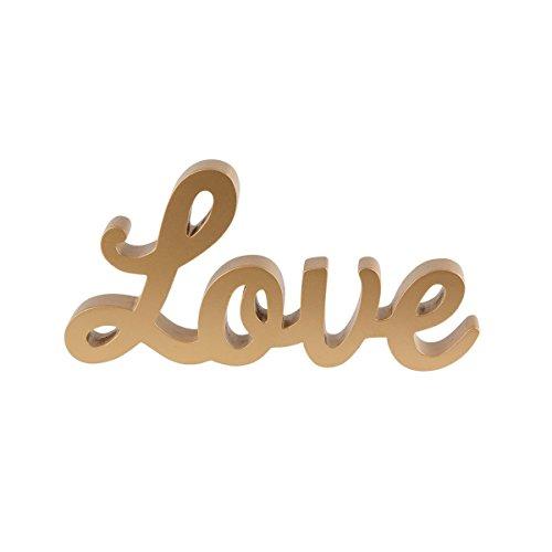 'Sass & Belle–Señal oro cartas de amor letras de madera, regalo de boda decoración de mesa PARTE SUPERIOR Mr & Mrs