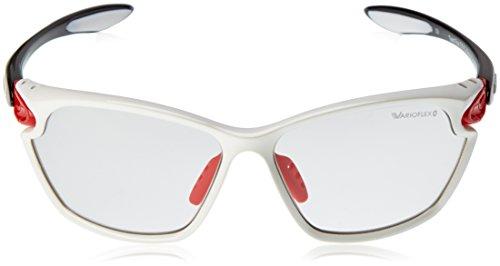 ALPINA A8484 1 25 Lunettes de soleil Twist Four 2.0 Vl Blanc - Fassung: White/Red/Black; Gläser: Varioflex Black S1/3 Fogstop