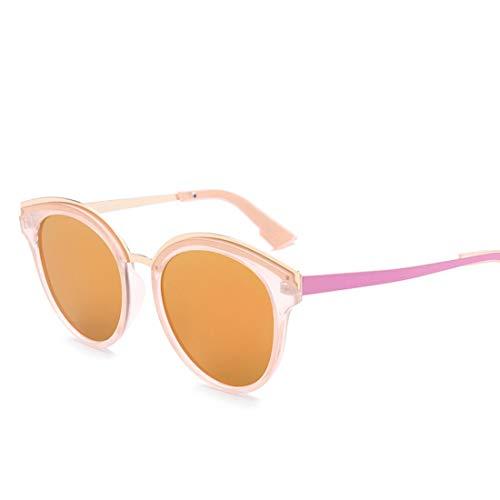 Shiduoli Kleine runde Sonnenbrille für Männer Damen klar polarisierte Sonnenbrille zum Fahren (Color : B)
