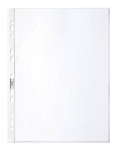 Durable 266819 Prospekthüllen (DIN A4 Business, 0,05 mm) Karton mit 100 Stück glasklar
