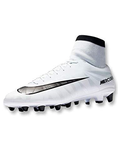 Nike Kinder Schuhe für Jungen Mercurial VCTRY 6 CR7 DF AGPRO Fußballschuh Sportschuh Stollenschuh für Rasen Blue Tint Black White 903602401 (38.5 EU)