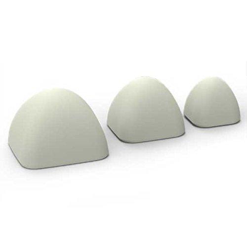 Massage Blocks-Set PRO-Besser als jede Massage Ball-Die leistungsstarke Trigger Point Therapie zu Hause, stahlgrau -