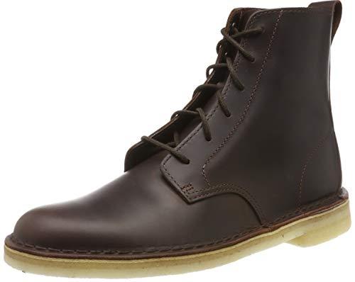 Clarks Originals Herren Desert Mali Biker Boots, Braun (Chestnut Leather Chestnut Leather), 46 EU -