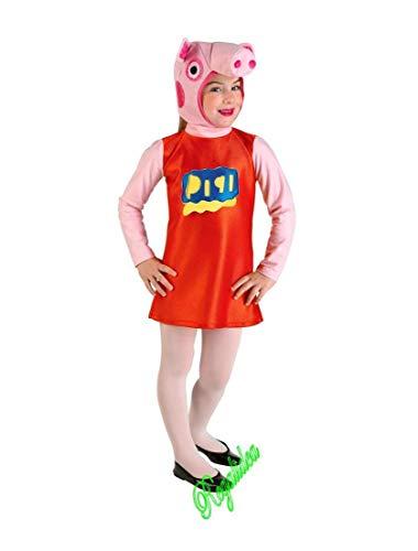 Prestige & deluxe costume vestito carnevale  peppa pig  taglia 3 4 anni bambina