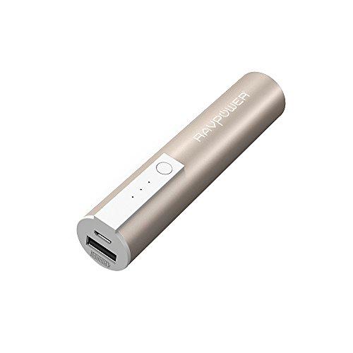 RAVPower Powerbank 3350mAh iSmart Externer Akku Pack USB Ladegerät für iPhone 6S / 6, 6S / 6 Plus, SE, Galaxy S7, S7 Edge, S6, Note 4, 3, 5 und weitere Smartphones, Gold