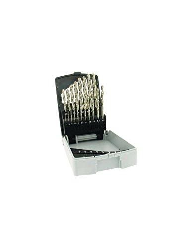 Tivoly 11451070015–Juego de 19brocas para metal HSS