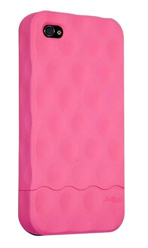 HardCandy Bubble Slider Soft Touch Coque pour iPhone 4 Rouge Rose