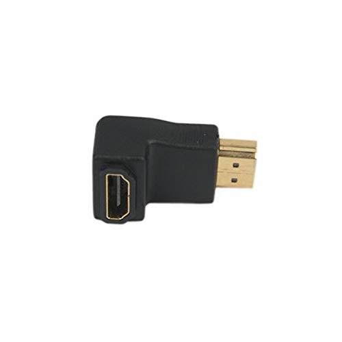 Profesional Convertidor HDMI 90grados ángulo macho a hembra convertidor alta velocidad macho a Micro adaptador USB