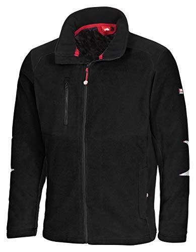 Bullstar Fleece-Jacke gefüttert S - XXL schwarz Sonderposten Übergangsjacke Winterjacke (XL)