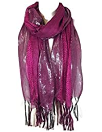 New Unisex Ladies Womens Mens Celebrity Style Stripes Scarf Scarves Clearance Sale