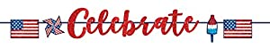 Amscan International-120356banner-ill letter-printbnr carta Gltr EE. UU. Celebrar