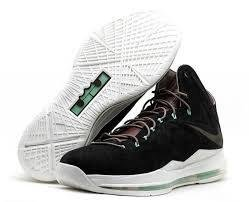 Limited Edition Lebron X Ext Qs Sport Style formateur Chaussures black/ white/ green