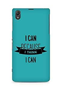 Amez I Can because I Think Back Cover For Sony Xperia Z1 C6902
