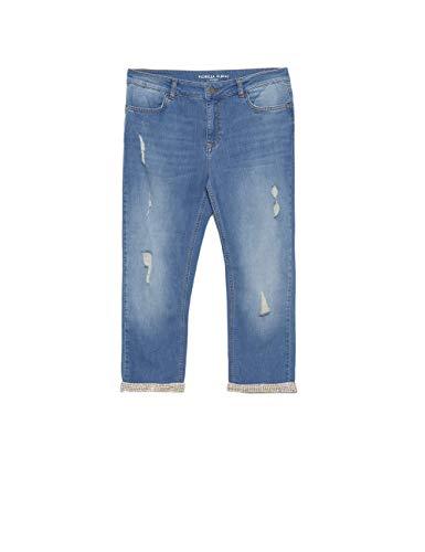immagini dettagliate 94c9c 28856 Fiorella Rubino : Jeans Skinny Capri con Strappi (Italian Plus Size)
