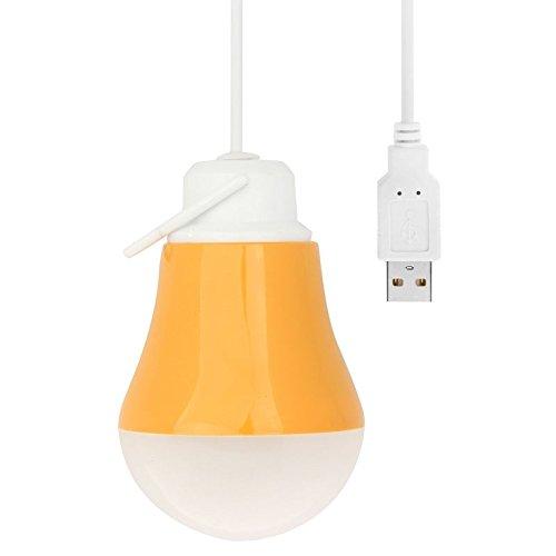 Glühbirne, 5V 3W 250lm USB-Stecker-Low-Voltage-LED-Birne, kaltes Weiß, Kabellänge: 1,1 m ( Farbe : Orange ) -