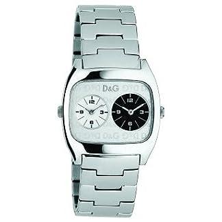 D&G Dolce&Gabbana Dig it Extension DW0139 – Reloj Unisex de Cuarzo con Correa de Acero Inoxidable Plateada