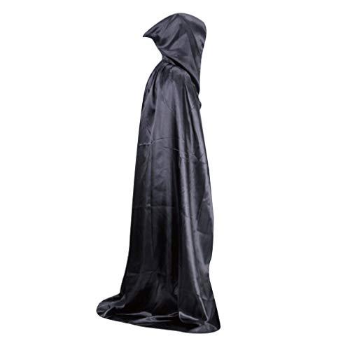 Robe Wizard Kostüm - Plzlm Halloween-Kostüm Unisex Cosplay Cape Lange mit Kapuze Wizard Umhang Leistung Maskerade-Party Robe