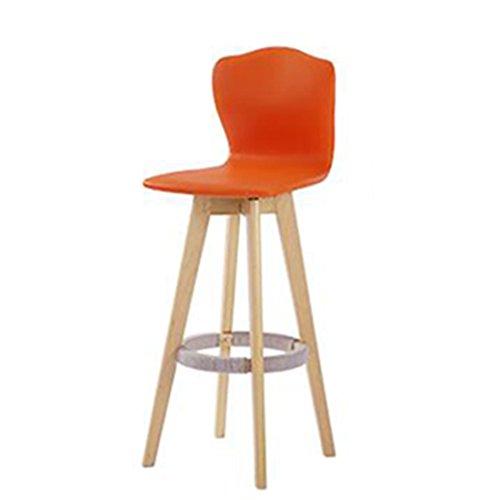 WEI MING Shop- Rétro fauteuil Rotable fauteuil massif en bois massif Chaise en chanvre à manger pour meubles de cuisine et de cuisine, coussin en cuir PU Tabouret de bar
