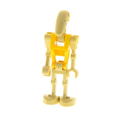 1 x Lego System Figur Droide beige gelb Star Wars Episode 2 Clone Wars Battle Droid Pilot 1 gerader Arm 59230 30377 30376 30378 30375 sw184