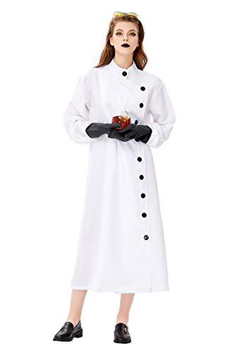 Kostüm Halloween Frankenstein - FGDJTYYJ Halloween Cosplay New Frankenstein Kostüm, Labor Researcher Rollenspielanzug White Robe Scientist Kleidung (Roben + Handschuhe + Brillen),S