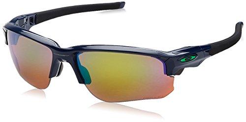 Oakley Herren Flak Draft 936407 67 Sonnenbrille, Silber (Navy/Prizmshallowh2Opolarized), (Oakley Sonnenbrille Linsen Für Männer)