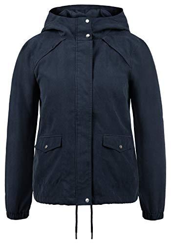 ONLY Urmel Damen Übergangsjacke Jacke Mit Kapuze, Größe:XS, Farbe:Sky Captain Captain Fleece