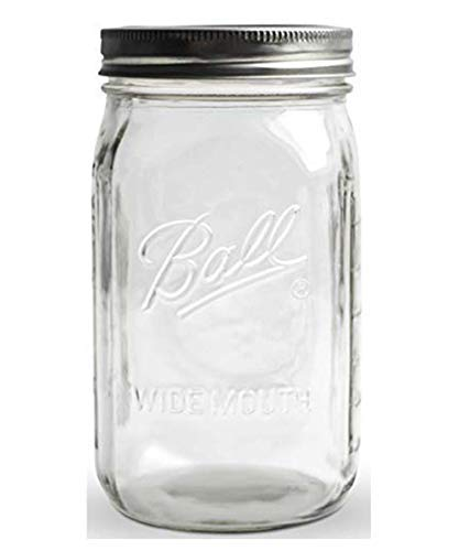 Ball Mason Jar Wide Mouth ● Einmachglas ● 945 ml ● 32 oz ● KoRo Drogerie (Oz 32 Jar Mugs Mason)