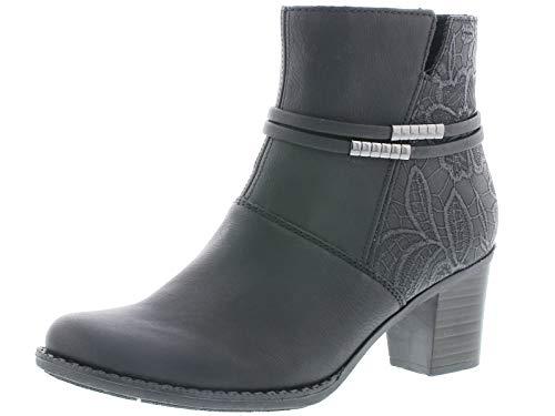 Rieker Damen Stiefeletten Z7684, Frauen Ankle Boots, Winterstiefeletten Damen Frauen weibliche Lady Ladies feminin,schwarz,39 EU / 6 UK