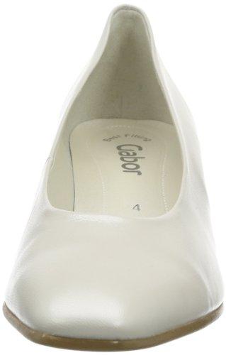 Gabor Gabor, Coupe fermées femme Blanc - Weiß (off-white+Absatz)